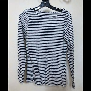 J crew striped french Long sleeved cotton tee